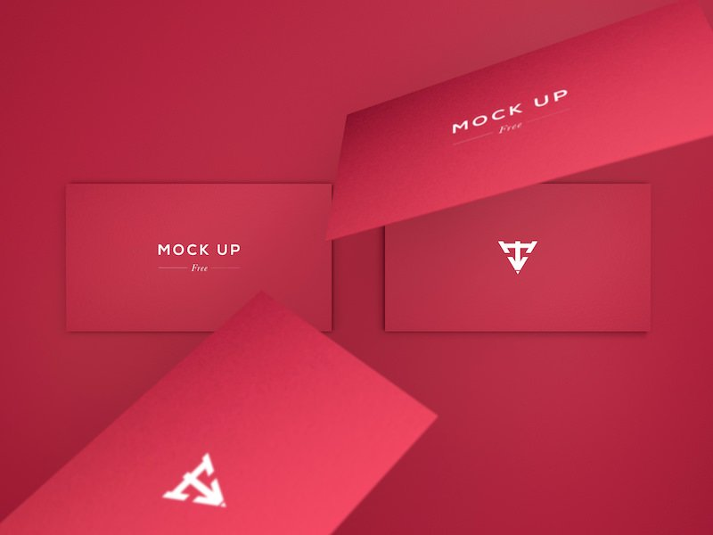 6 free mockups for business cards