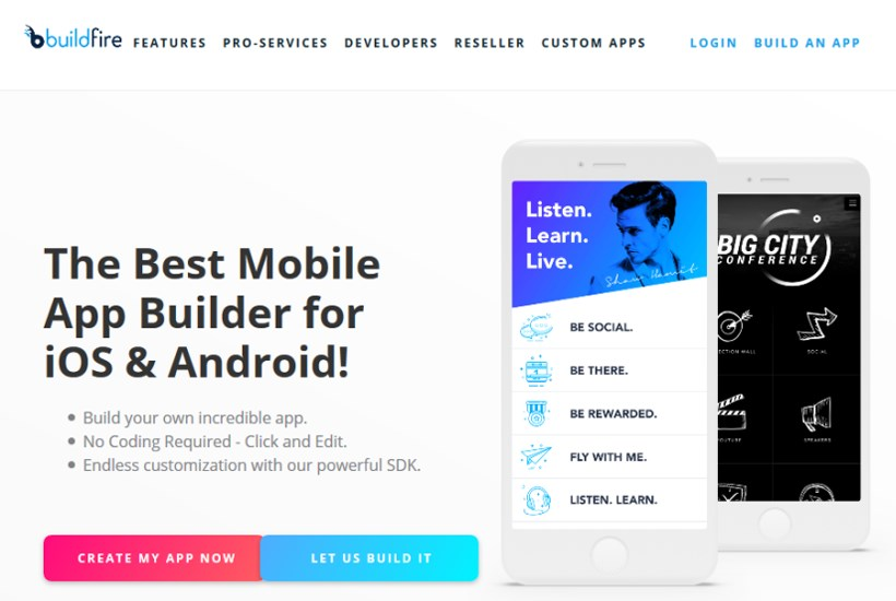 buildfire mobile app builder