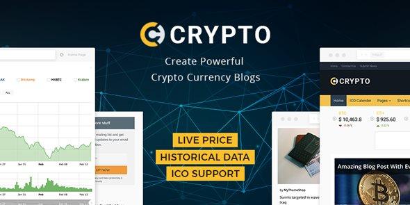 Crypto Bitcoin Cryptocurrency WordPress Theme