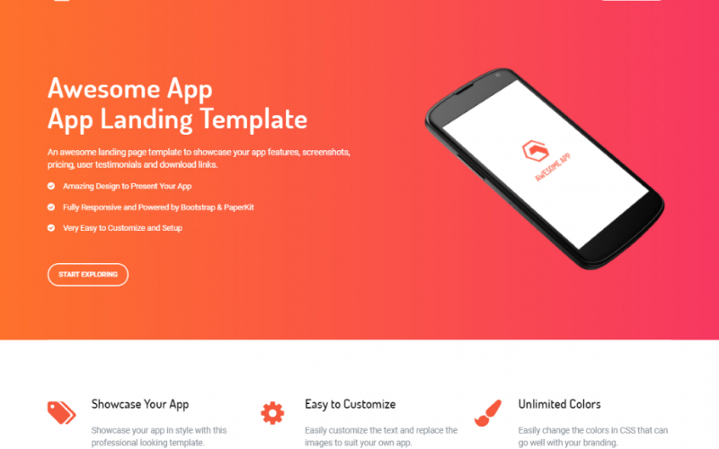 Free Bootstrap 4 App Landing Page Template