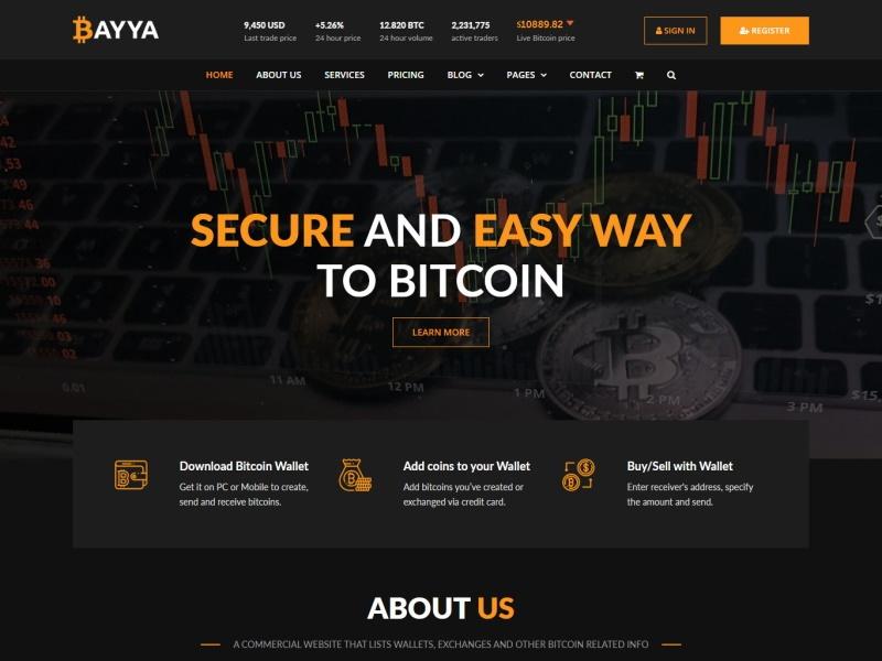 bayya bitcoin crypto template