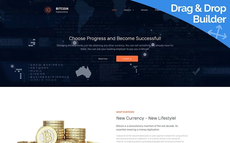 17 Best Bitcoin & Cryptocurrency Website Templates & Themes - Super ...