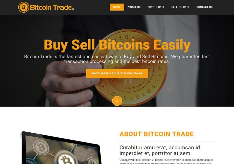 Crypto trading website template