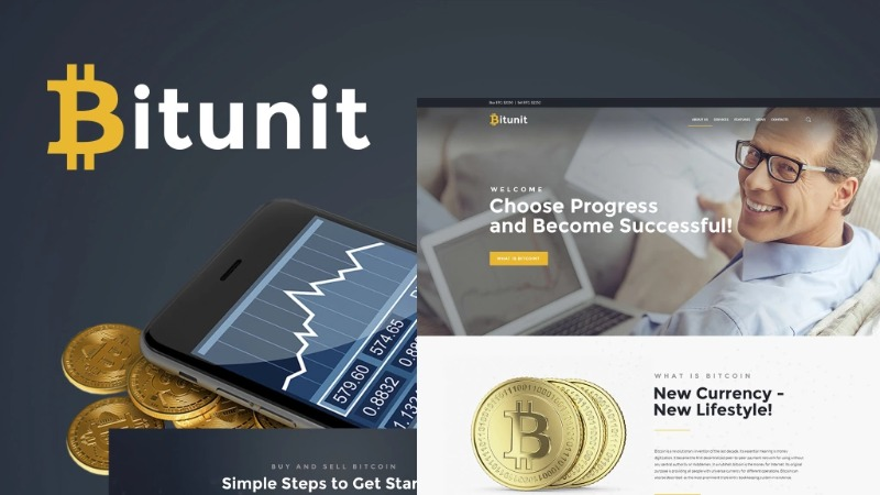 Bitunit – Bitcoin Cryptocurrency WordPress Template