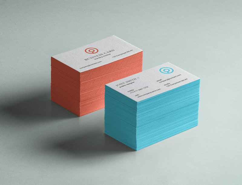 Free PSD mockup for a stack of business cards