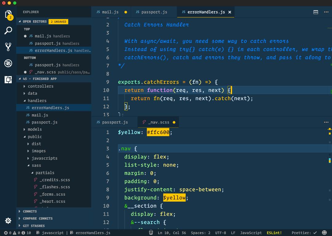 cobalt 2 vscode theme