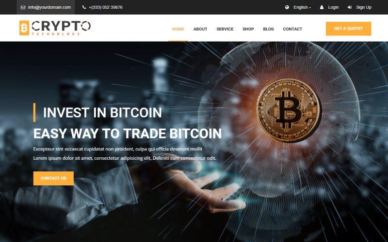 crypto bitcoin template