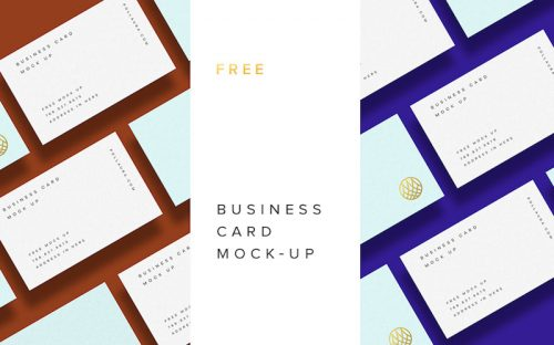 20 Free Business Card PSD Mockups