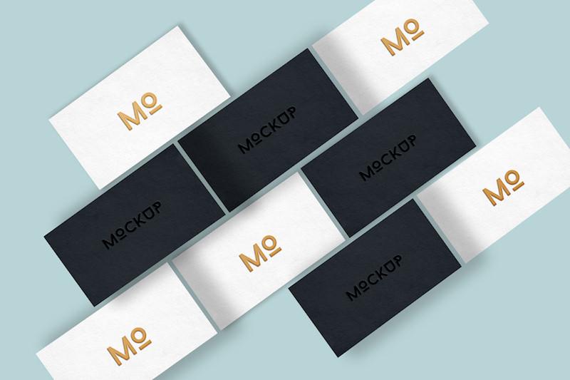 Free Elegant Business Cards Mockup