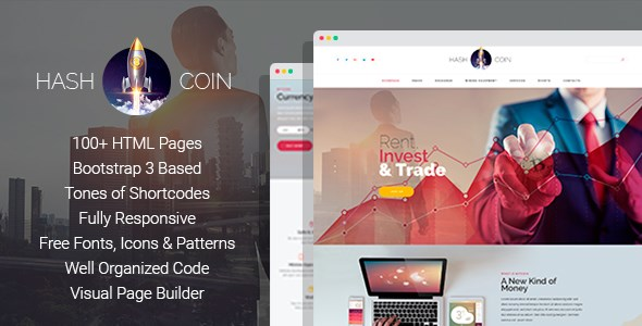 hashcoin website template
