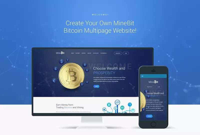 minebit crypto theme