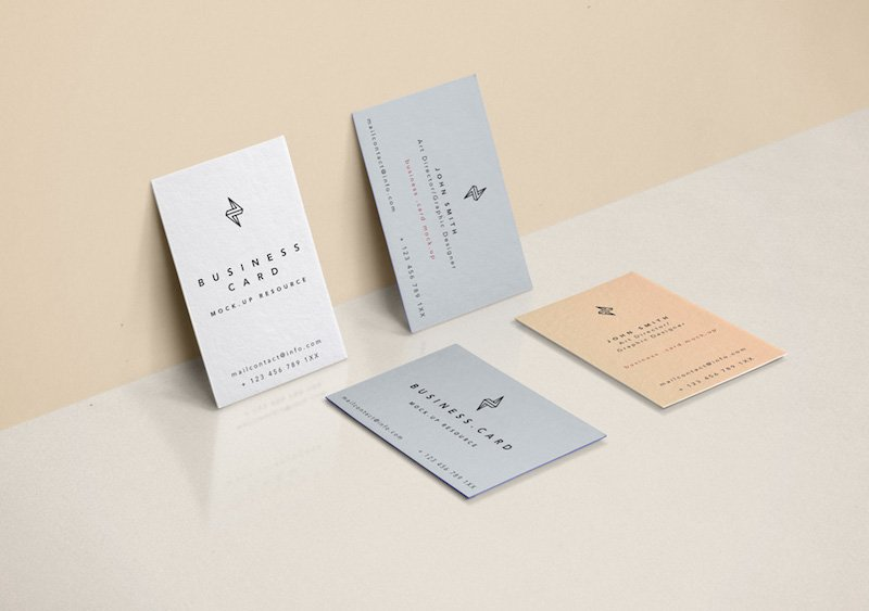 20 free business card psd mockups super dev resources minimal business card mockup reheart Gallery