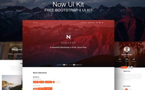 Now UI Kit: A Free Bootstrap 4 HTML UI Kit