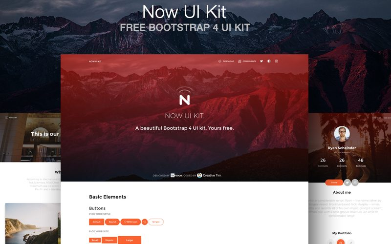 Now UI Kit: A Free Bootstrap 4 HTML UI Kit