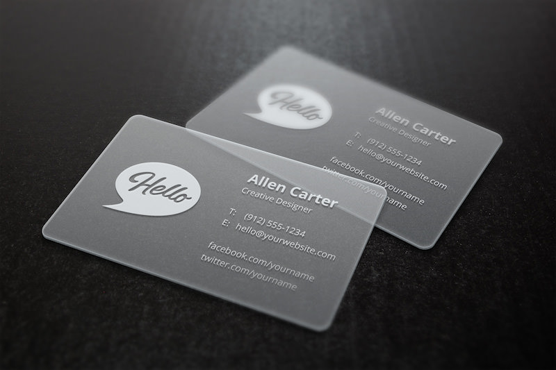 20 free business card psd mockups super dev resources a high detailed mockup to depict your business card designs printed on translucent plastic with separate shadow layers smart filters to modify depth of reheart Gallery