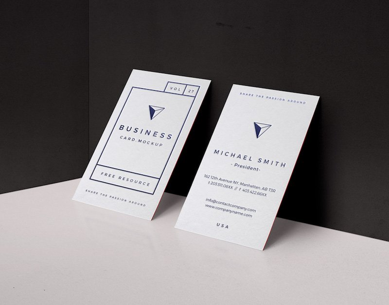 20 free business card psd mockups super dev resources vertical business card mockup flashek Image collections