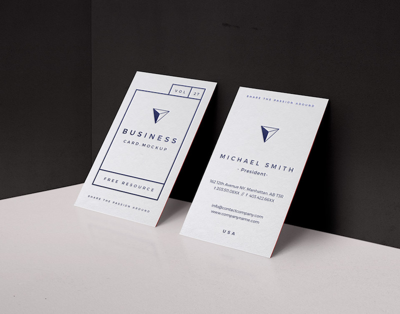 20 Free Business Card PSD Mockups - Super Dev Resources