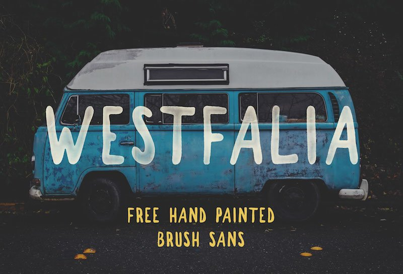 Westfalia Free Brush Sans Font
