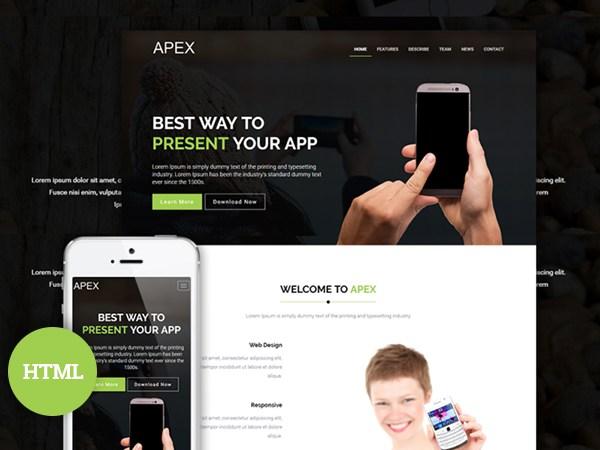 apex landing page
