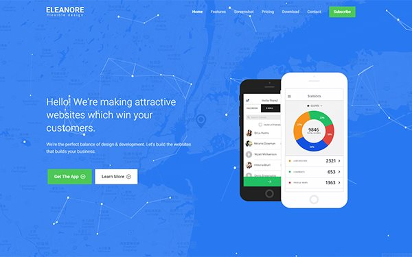 eleanore flexible app landing page