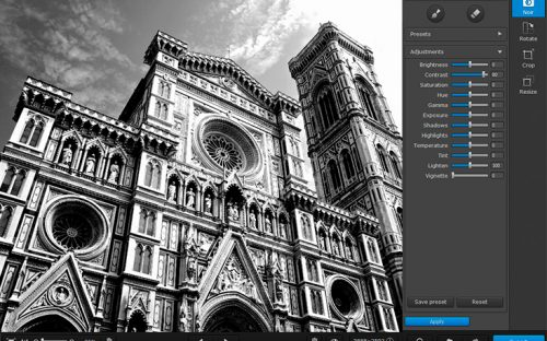 Creating Black and White Images with Movavi Photo Noir