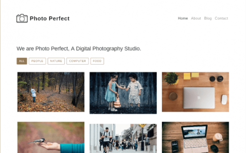 Free Photo Gallery Template Built with Bootstrap 4