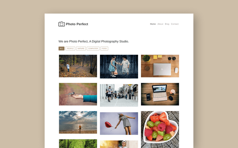Free Photo Gallery Template Built with Bootstrap