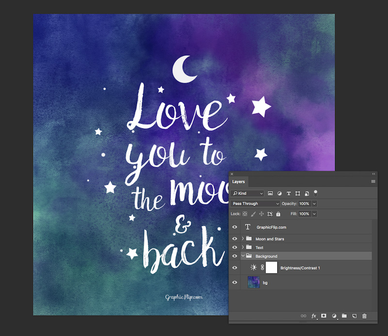 Love You to the Moon and Back' Quote Poster - Super Dev
