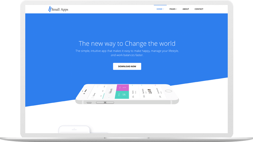 small apps landing page