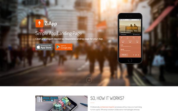 zi simple app landing