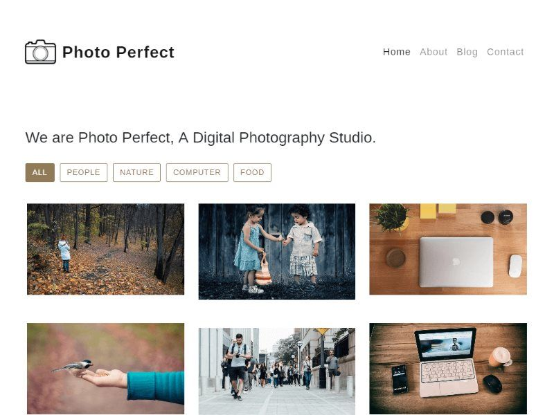 photo perfect photo gallery template