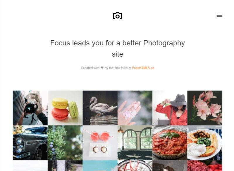 focus free html5 bootstrap template