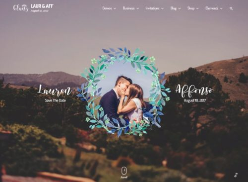 10 glanz wedding template