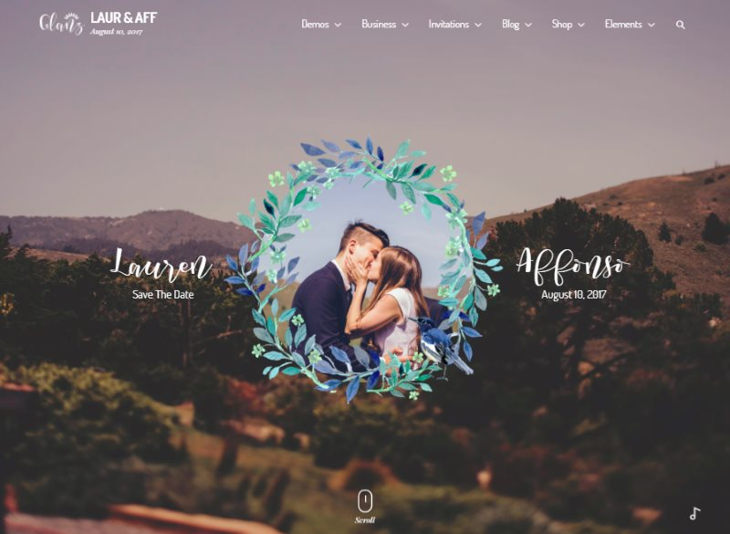 glanz wedding template