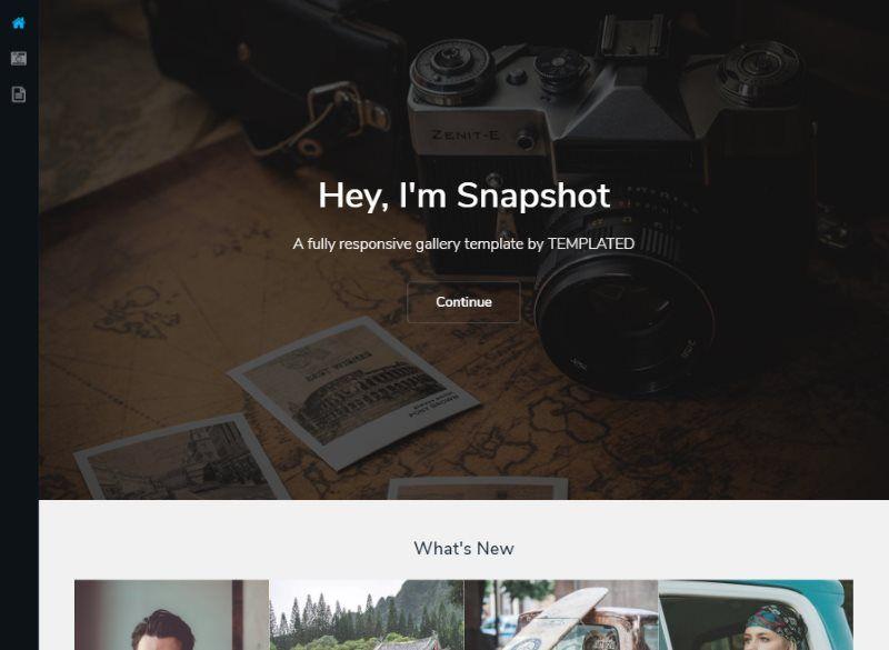 snapshot gallery template