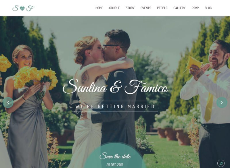 lovely wedding responsive template