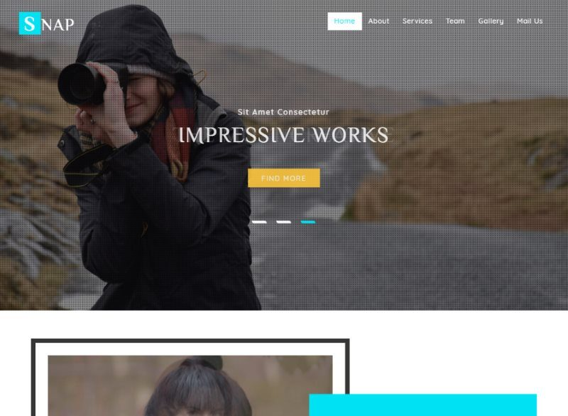 snap photo gallery bootstrap template