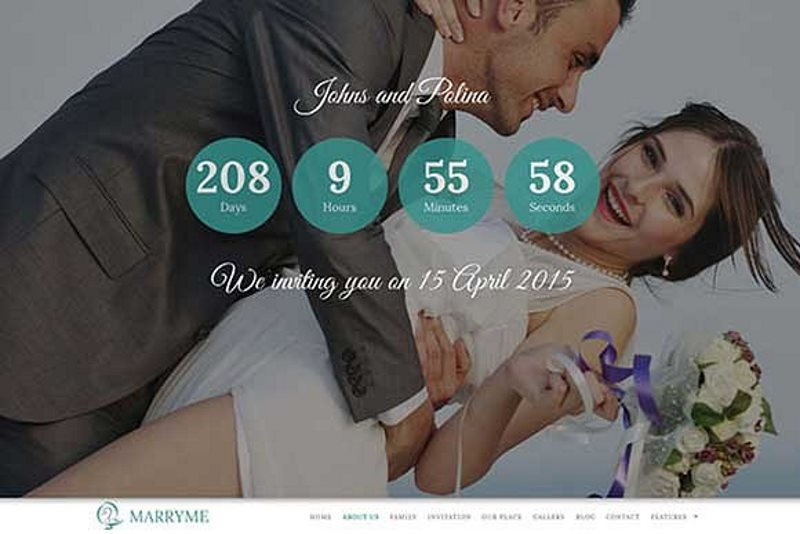 marry me responsive wedding theme