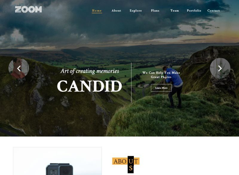 zoom photo gallery bootstrap template