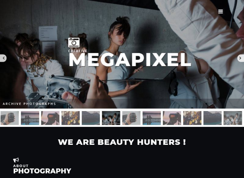 megapixel photo gallery bootstrap template