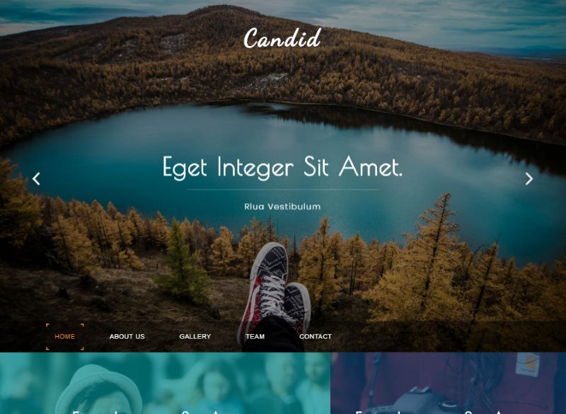 candid photo gallery bootstrap template