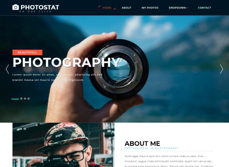 photostat photo gallery bootstrap template