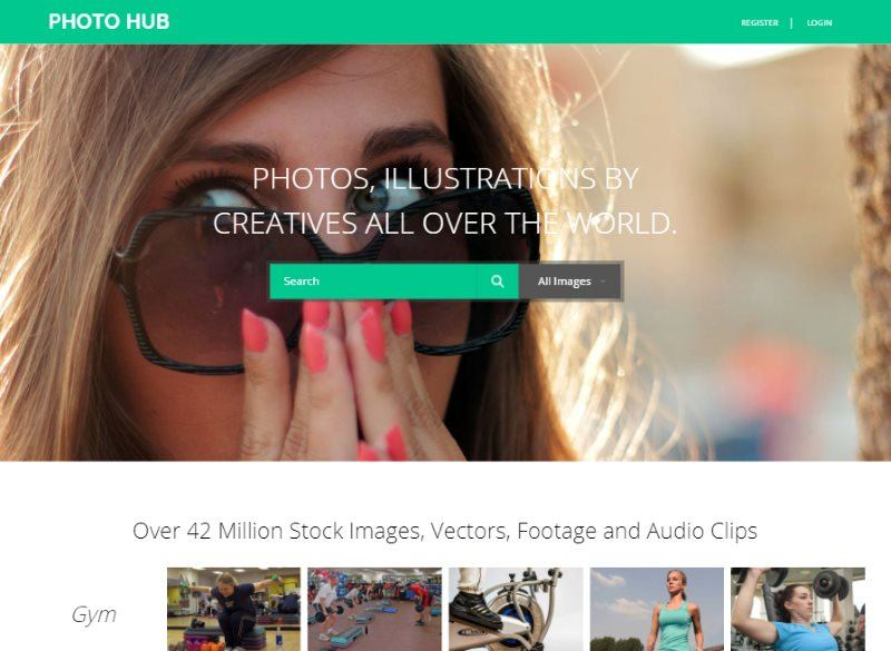 photo hub photo gallery template