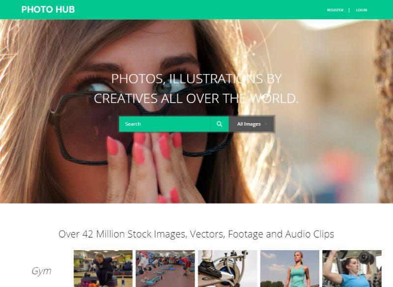 photo hub photo gallery template
