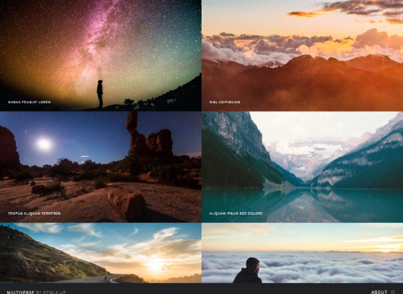 multiverse html template