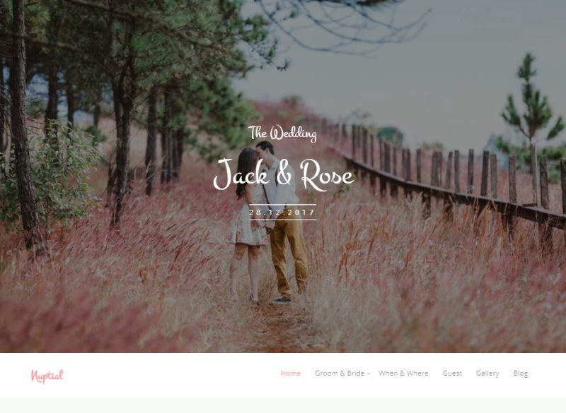 nuptial free html5 wedding template