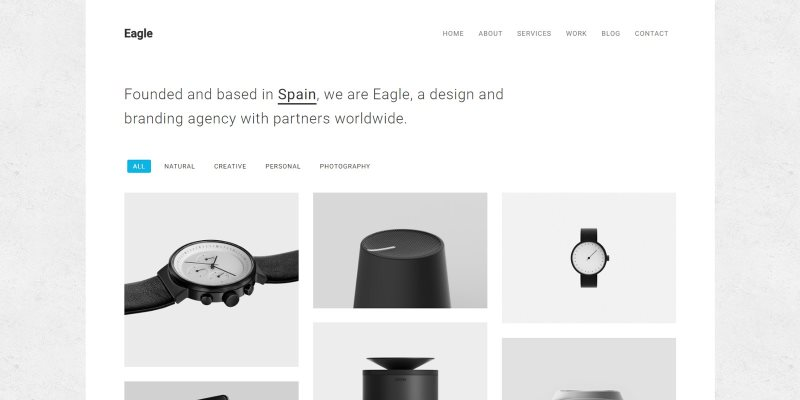 eagle responsive minimal html template