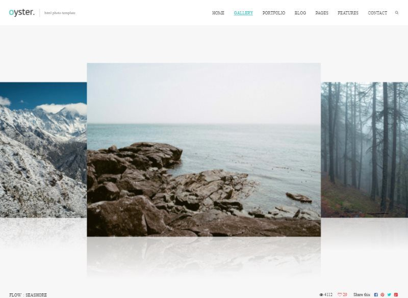 oyster creative photography html template