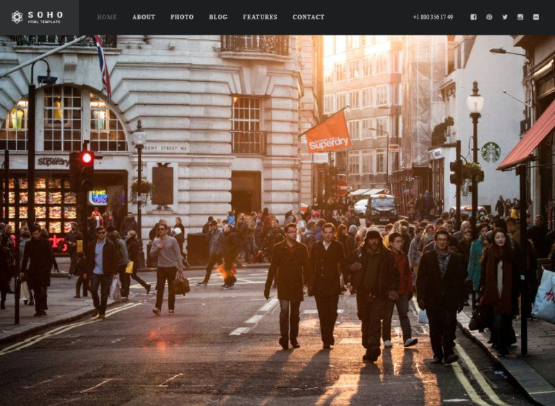 soho fullscreen photo Video Template