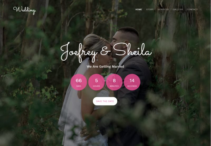 wedding free html5 template